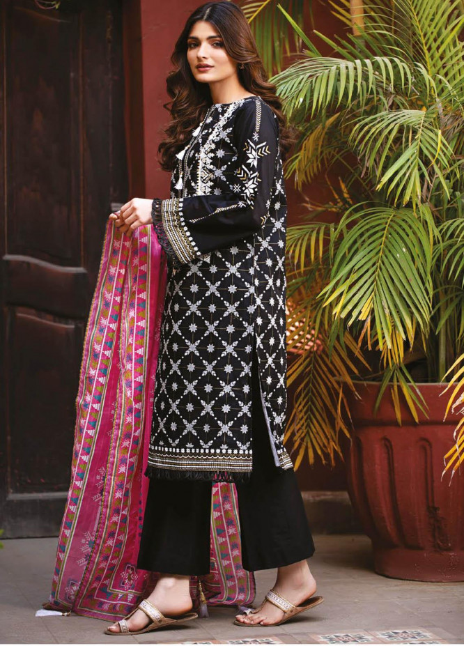 Orient Textile Embroidered Lawn Suits Unstitched 3 Piece OTL-21-007 Pink - Summer Collection