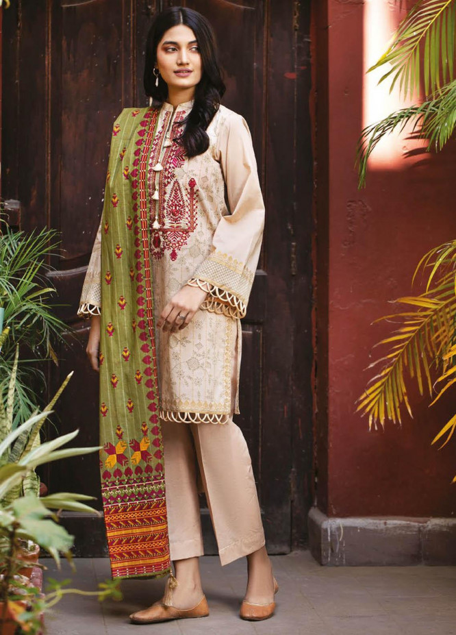 Orient Textile Embroidered Lawn Suits Unstitched 3 Piece OTL-21-009 Green - Summer Collection