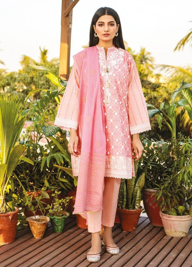 Orient Textile Embroidered Lawn Suits Unstitched 3 Piece OTL-21-018 Pink - Summer Collection