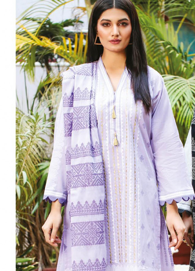 Orient Textile Embroidered Lawn Suits Unstitched 3 Piece OTL-21-019 Purple - Summer Collection