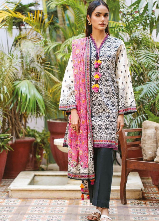 Orient Textile Printed Lawn Suits Unstitched 2 Piece OTL-21-023 Pink - Summer Collection