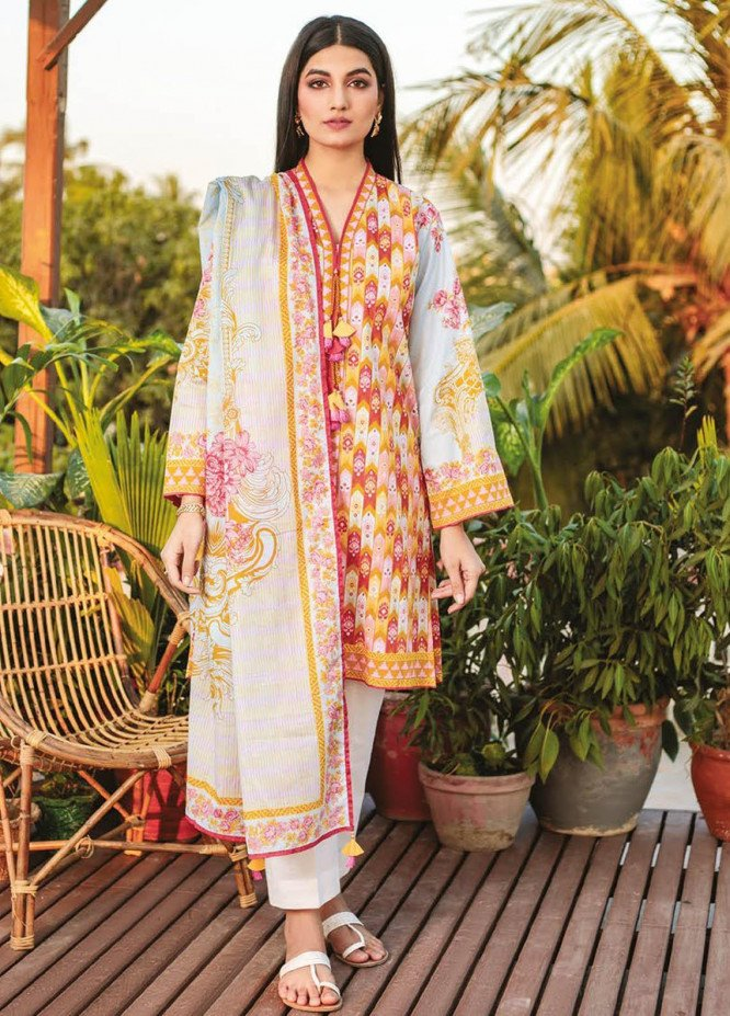 Orient Textile Printed Lawn Suits Unstitched 2 Piece OTL-21-025 Blue - Summer Collection