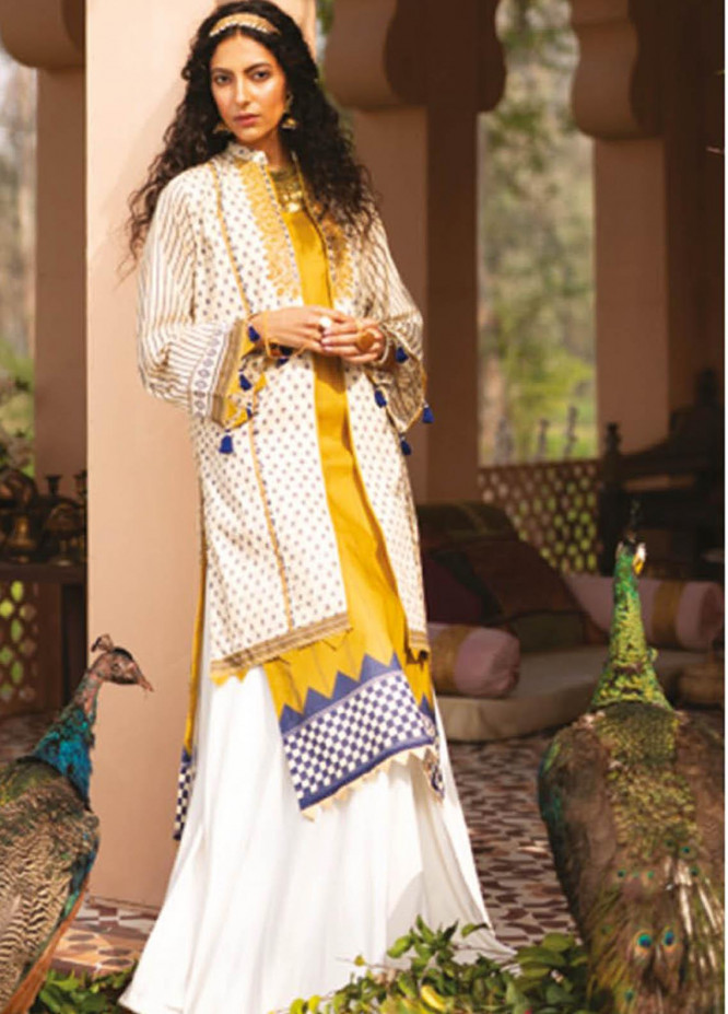 Orient Textile Embroidered Lawn Suits Unstitched 2 Piece OTL-21-026 Green - Summer Collection