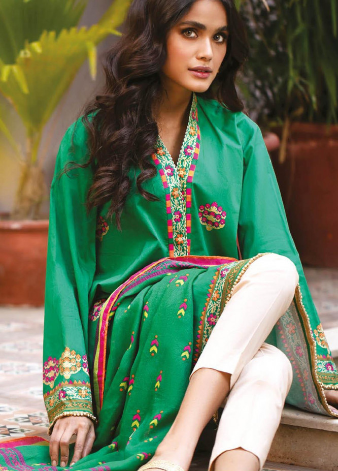 Orient Textile Printed Lawn Suits Unstitched 2 Piece OTL-21-029 Green - Summer Collection