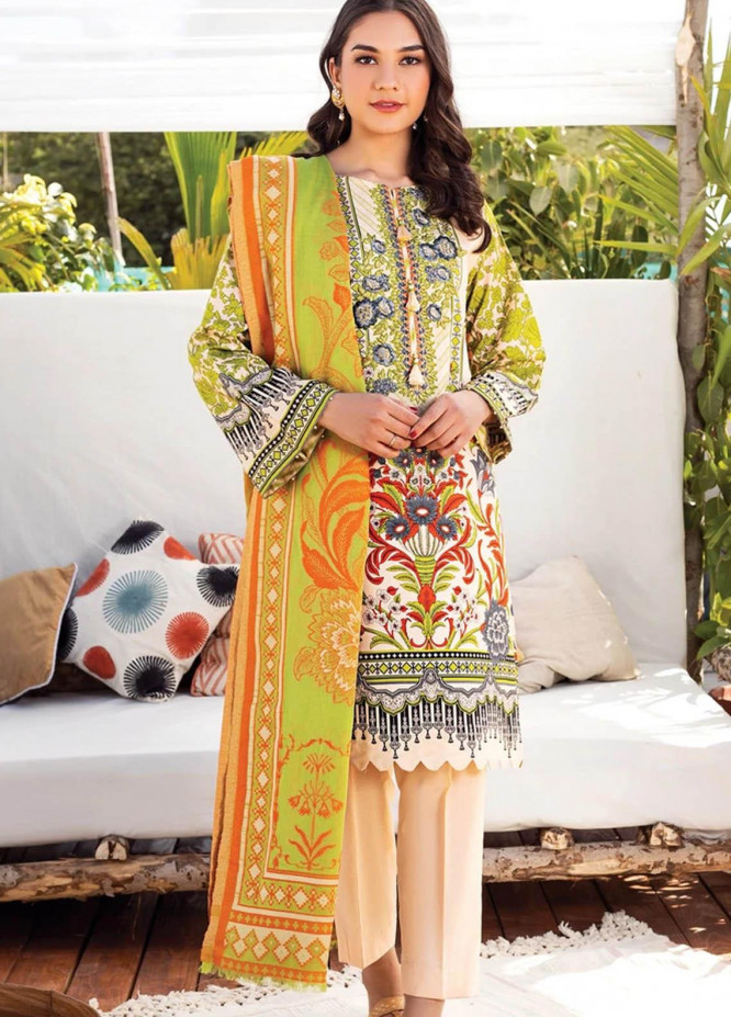 Orient Textile Embroidered Lawn Suits Unstitched 3 Piece OTL-20-143 A - Summer Collection