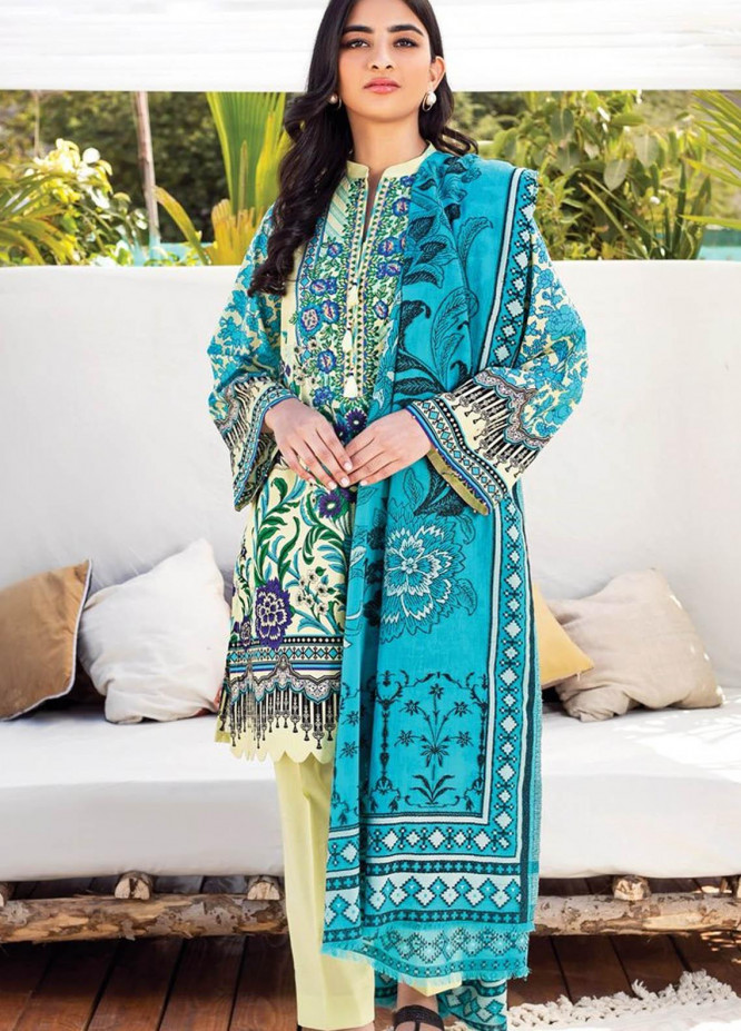 Orient Textile Embroidered Lawn Suits Unstitched 3 Piece OTL-20-143 B - Summer Collection
