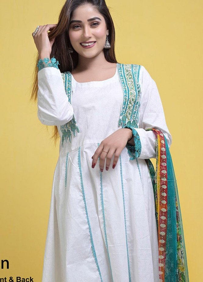 Halima Sultan Embroidered Lawn Suits Unstitched 3 Piece HS21L-2 01-Carnation - Summer Collection