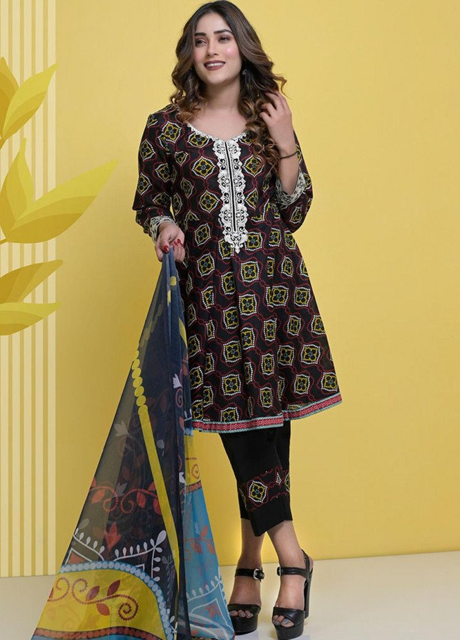 Halima Sultan Embroidered Lawn Suits Unstitched 3 Piece HS21L-2 02-Catmint - Summer Collection