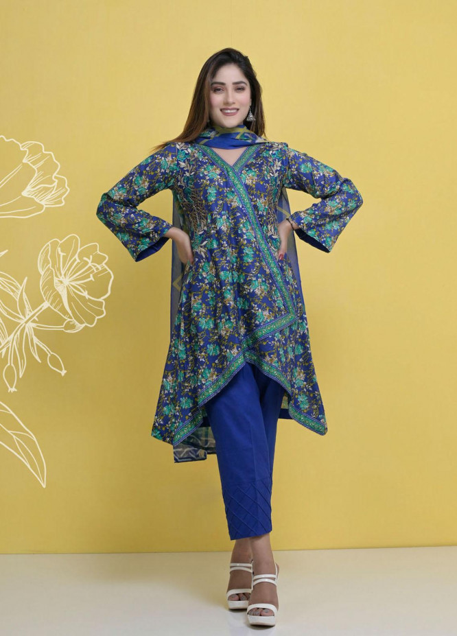 Halima Sultan Embroidered Lawn Suits Unstitched 3 Piece HS21L 01 - Summer Collection