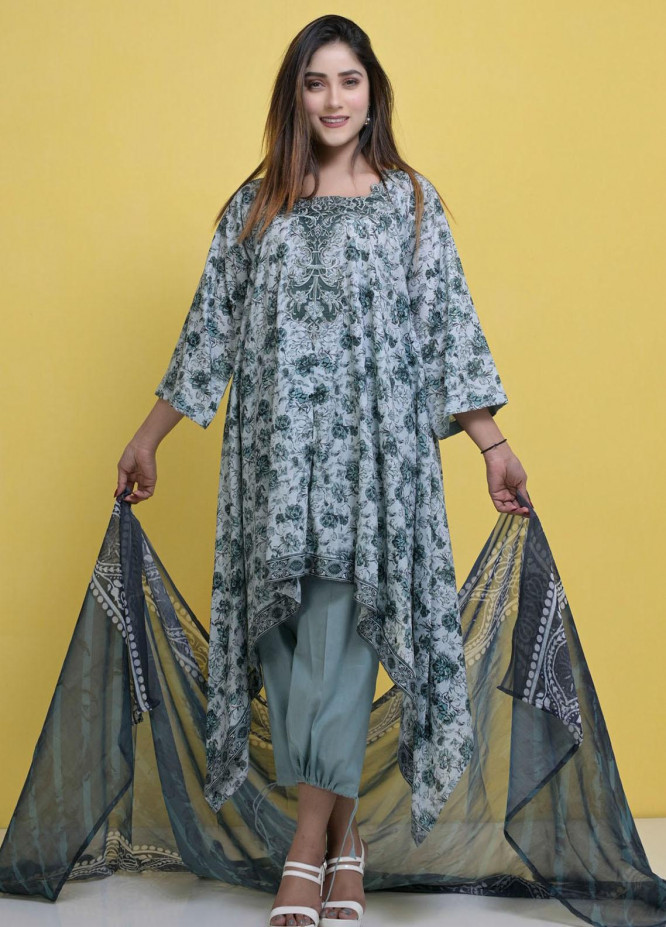 Halima Sultan Embroidered Lawn Suits Unstitched 3 Piece HS21L 04 - Summer Collection