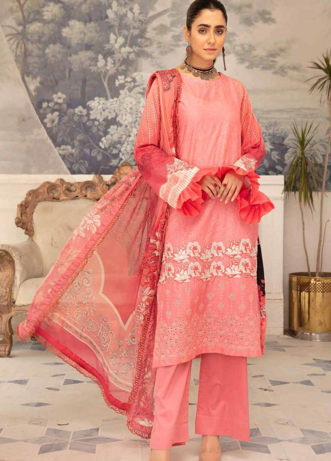 Hoor by Riaz Arts Embroidered Lawn Suits Unstitched 3 Piece RA21H DH-26 - Summer Collection