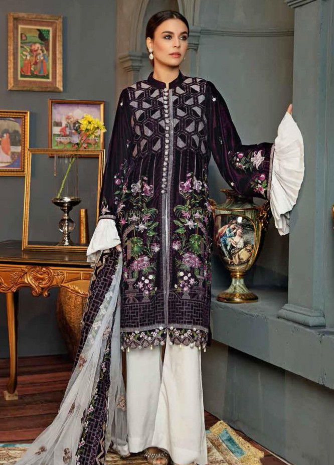 Hoor by Riaz Arts Embroidered Velvet Unstitched 3 Piece Suit RA20HV 05 - Winter Collection