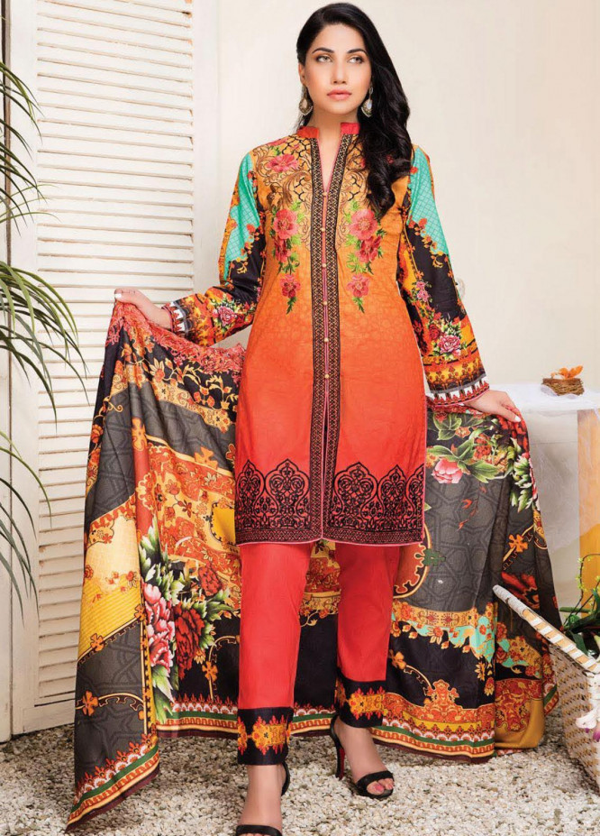 Master Fabrics Embroidered Lawn Unstitched 3 Piece Suit MF20HL 24 - Summer Collection