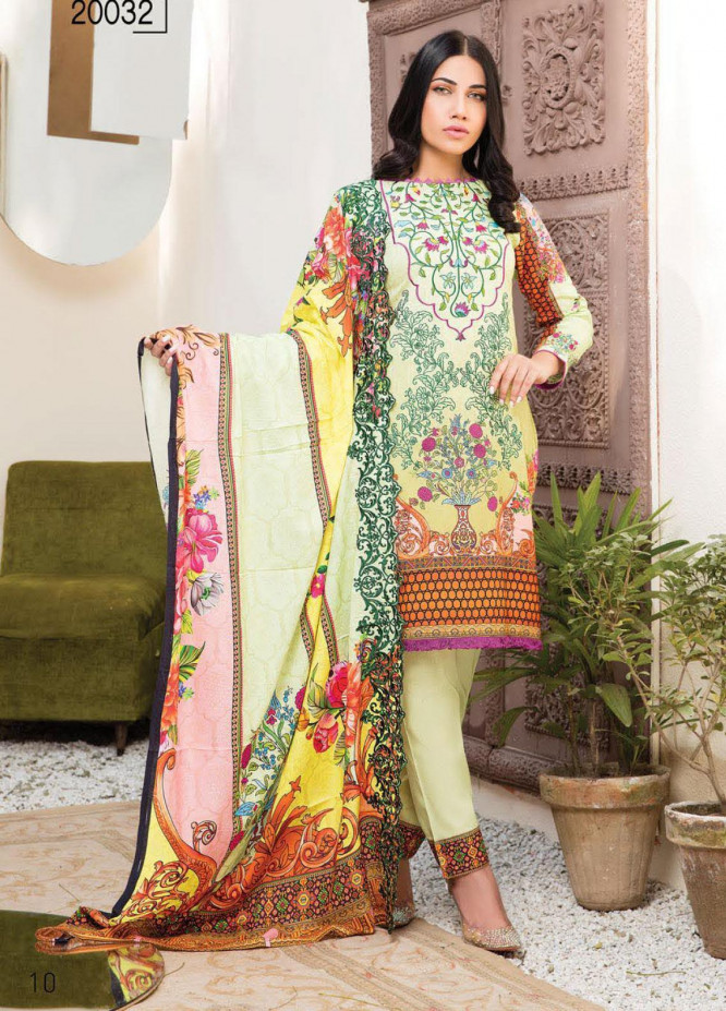 Master Fabrics Embroidered Lawn Unstitched 3 Piece Suit MF20HL 32 - Summer Collection