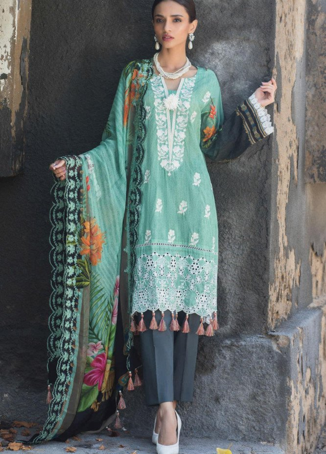 Regalia Textiles Embroidered Lawn Suits Unstitched 3 Piece RG21IN D-08 - Summer Collection