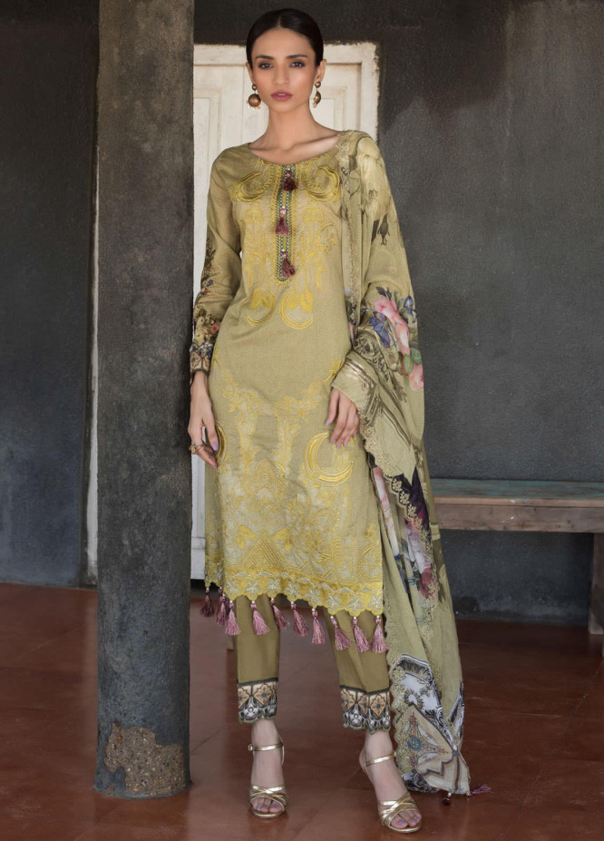Regalia Textiles Embroidered Lawn Suits Unstitched 3 Piece RG21IN D-09 - Summer Collection