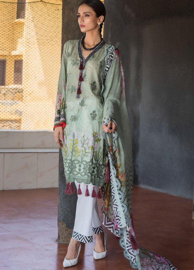 Regalia Textiles Embroidered Lawn Suits Unstitched 3 Piece RG21IN D-10 - Summer Collection