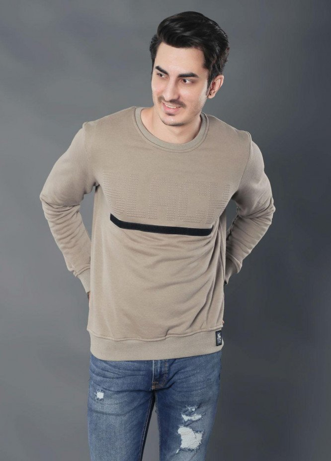Sanaulla Exclusive Range Jersey Casual Full Sleeves for Men -  19-MG-1853 Beige