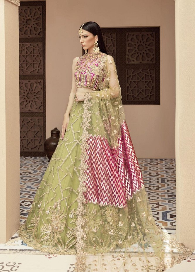 Imrozia Premium Embroidered Net Suits Unstitched 3 Piece IMP21B IB-11 IRIS MELODY - Luxury Bridals Collection