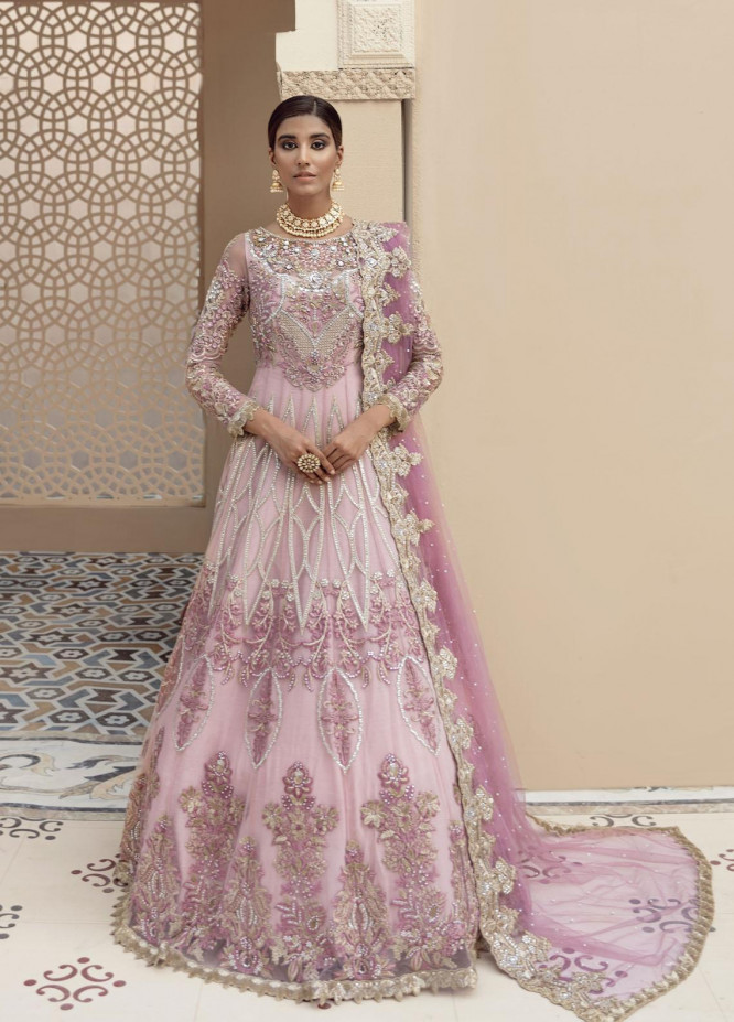 Imrozia Premium Embroidered Net Suits Unstitched 3 Piece IMP21B IB-13 ELYSIAN - Luxury Bridals Collection