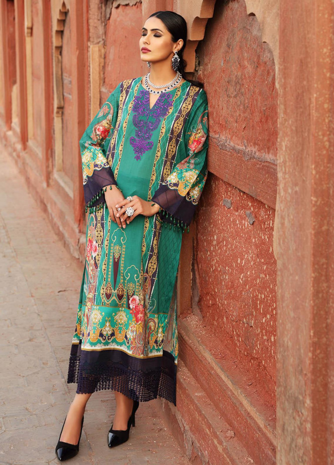 Inayat by Afsaneh Embroidered Lawn Suits Unstitched 2 Piece AFH21I NAAZ-A - Eid Collection