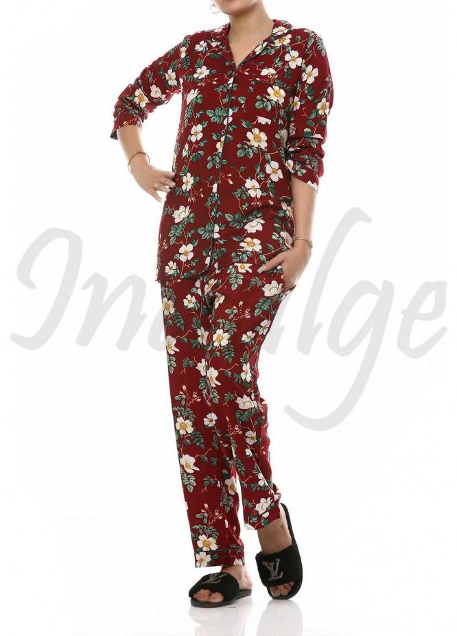 Linen Women Nightwear 2 Piece IN21NW L009 Just For You