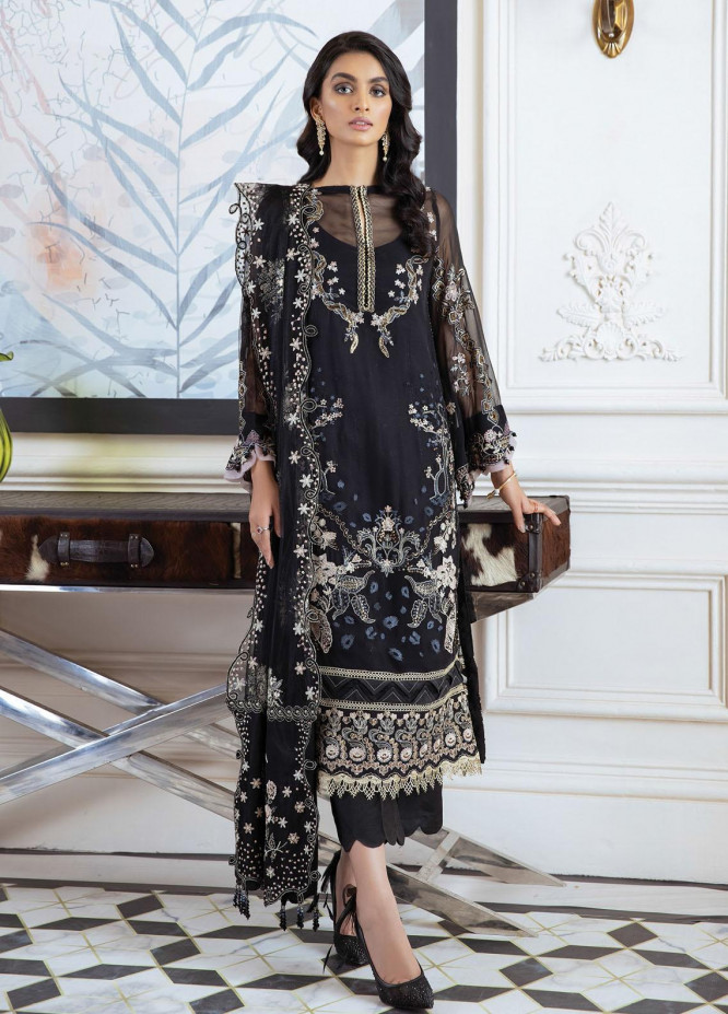 Isfahan by Xenia Formals Embroidered Chiffon Suits Unstitched 3 Piece XF21IF 08-BAHAR - Luxury Collection