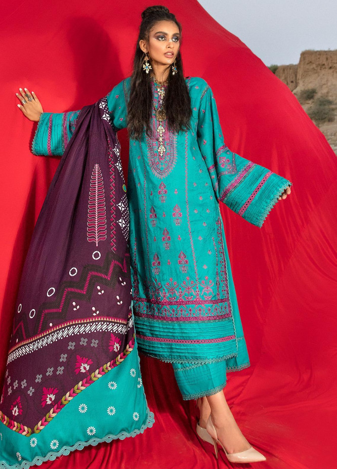 Ittehad Textiles Embroidered Jacquard Suits Unstitched 3 Piece IT21WP 02 KASVET - Winter Collection