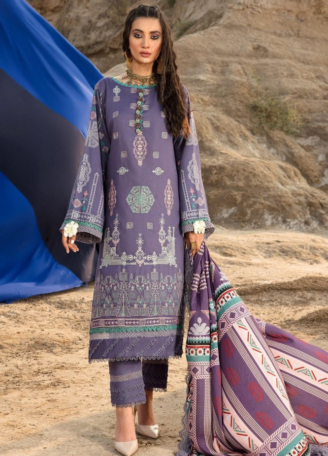 Ittehad Textiles Embroidered Dobby Suits Unstitched 3 Piece IT21WP 04 LILTOVVY - Winter Collection