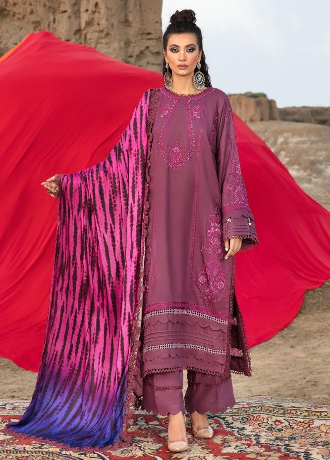 Ittehad Textiles Embroidered Crepe Suits Unstitched 3 Piece IT21WP 09 KIZIL - Winter Collection
