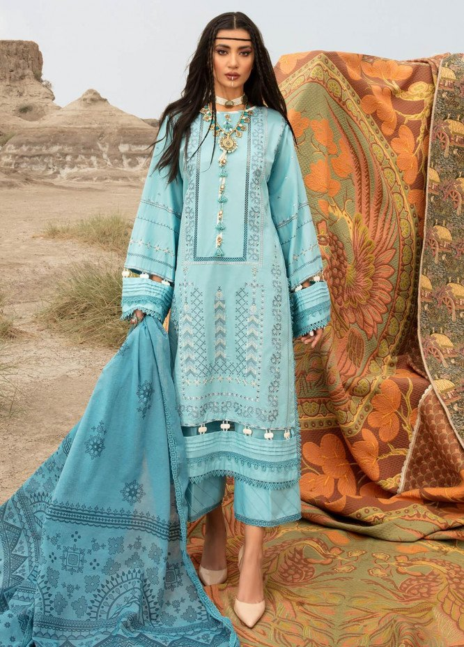 Ittehad Textiles Embroidered Cambric Suits Unstitched 3 Piece IT21WP 13 GOK MAVISI - Winter Collection