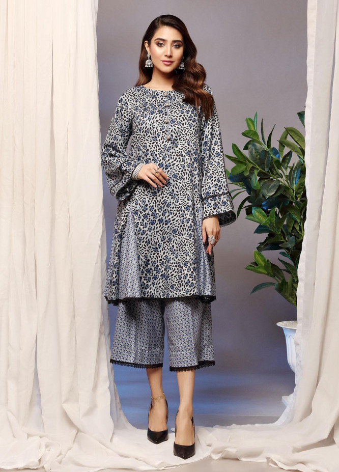 Heena By Ittehad Textiles Printed Linen Suits Unstitched 2 Piece ITD21H 1916-A - Winter Collection