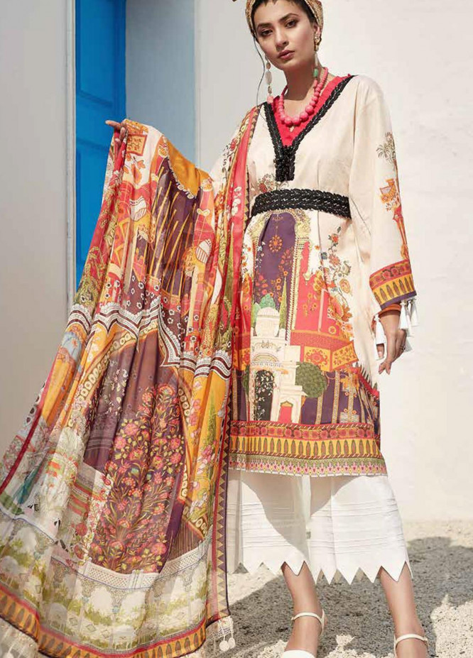 Ittehad Textiles Sarang Printed Lawn Unstitched 3 Piece Suit ITD20SR WHITLOW GRASS - Spring / Summer Collection