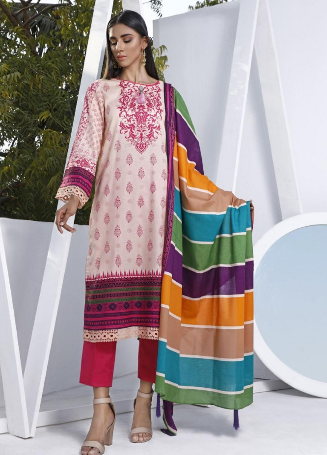 Ittehad Textiles Printed Lawn Suits Unstitched 3 Piece IT21CL LF-CL-21103A - Summer Collection