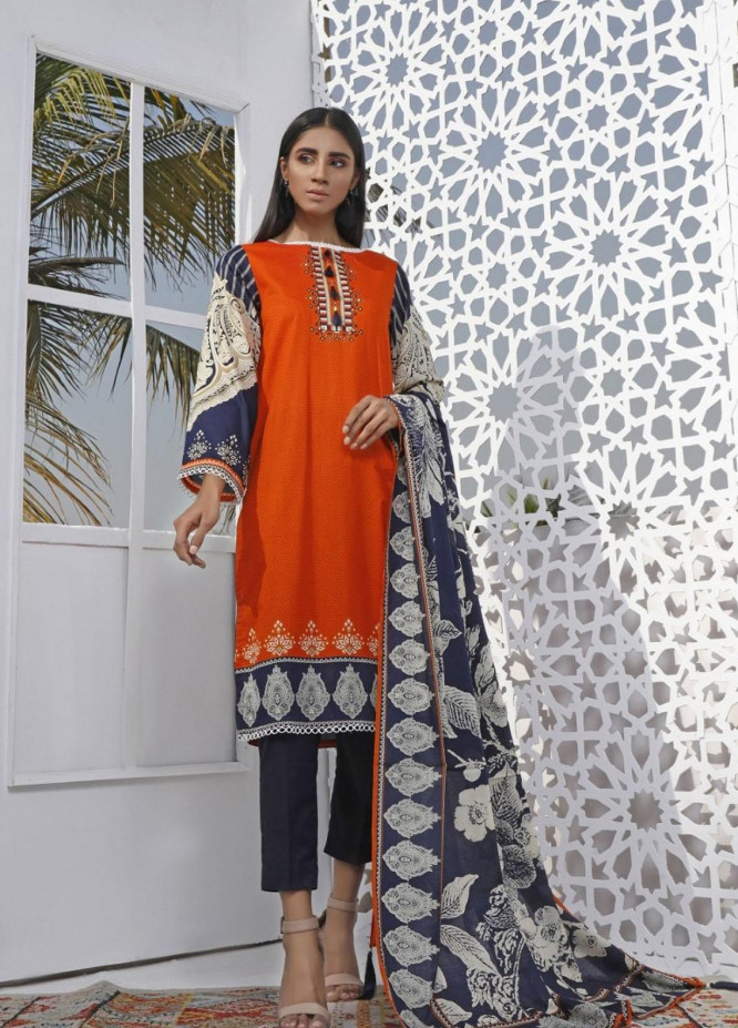 Ittehad Textiles Printed Lawn Suits Unstitched 3 Piece IT21CL LF-CL-21105A - Summer Collection