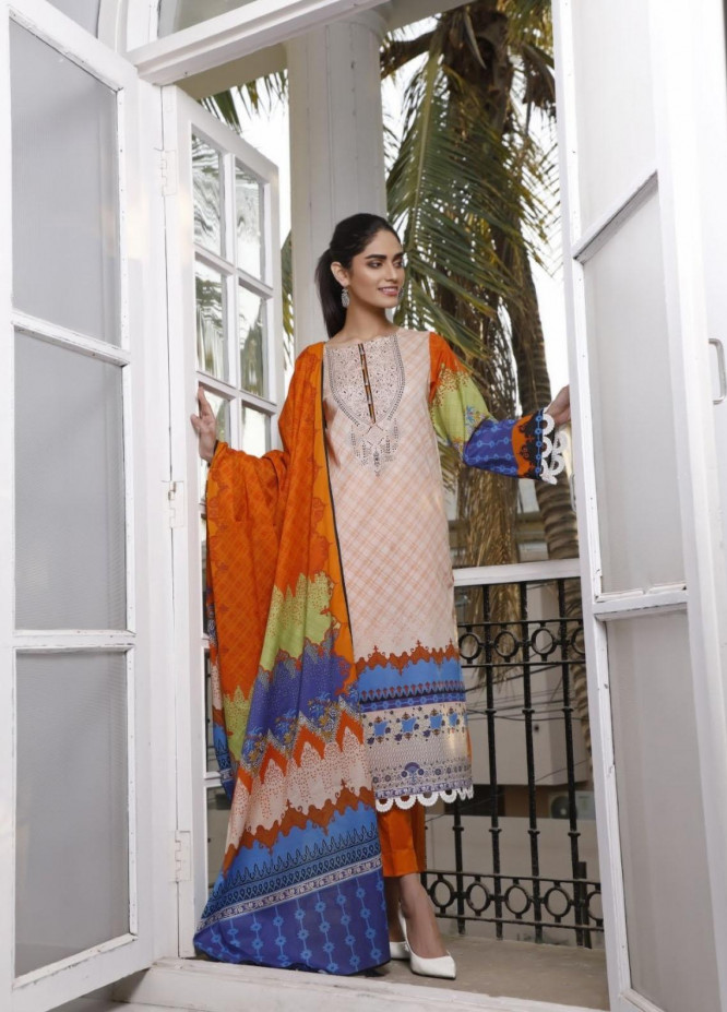 Ittehad Textiles Printed Lawn Suits Unstitched 3 Piece IT21CL LF-CL-21112A - Summer Collection