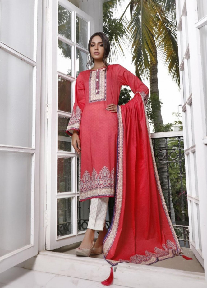 Ittehad Textiles Printed Lawn Suits Unstitched 3 Piece IT21CL LF-CL-21114B - Summer Collection