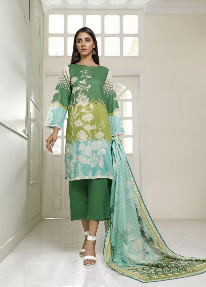 Ittehad Textiles Printed Lawn Suits Unstitched 3 Piece IT21CL LF-CL-21115B - Summer Collection