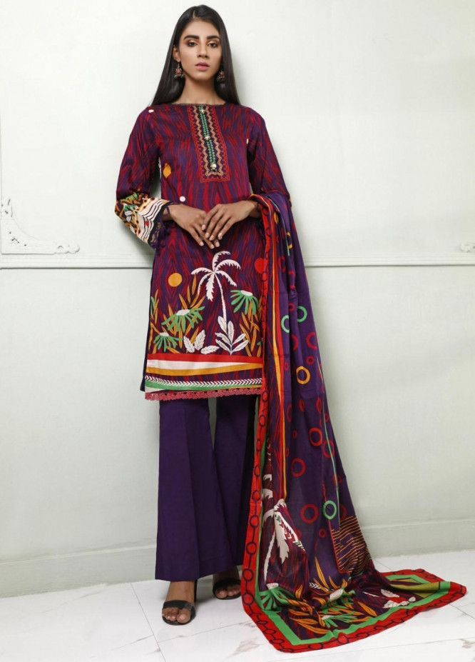 Ittehad Textiles Printed Lawn Suits Unstitched 3 Piece IT21CL LF-CL-21116A - Summer Collection