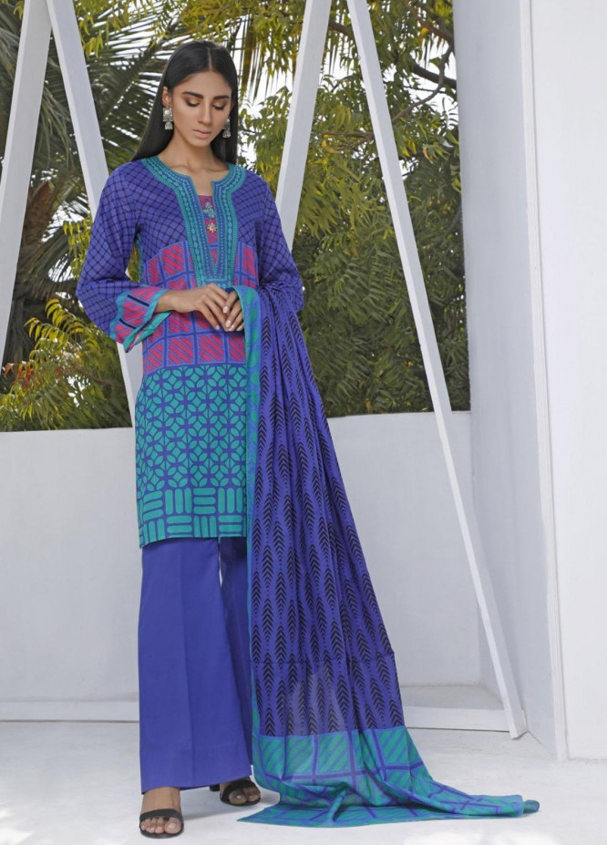 Ittehad Textiles Printed Lawn Suits Unstitched 3 Piece IT21CL LF-CL-21117A - Summer Collection