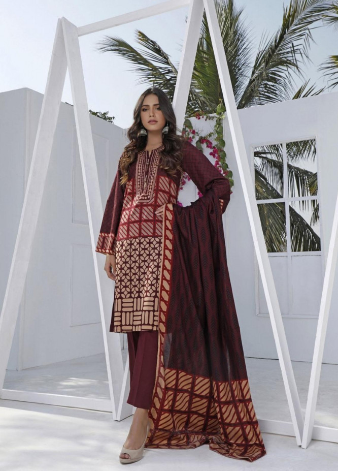 Ittehad Textiles Printed Lawn Suits Unstitched 3 Piece IT21CL LF-CL-21117B - Summer Collection