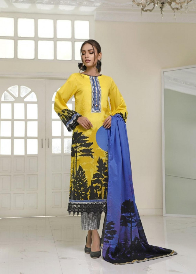 Ittehad Textiles Printed Lawn Suits Unstitched 3 Piece IT21CL LF-CL-21118B - Summer Collection