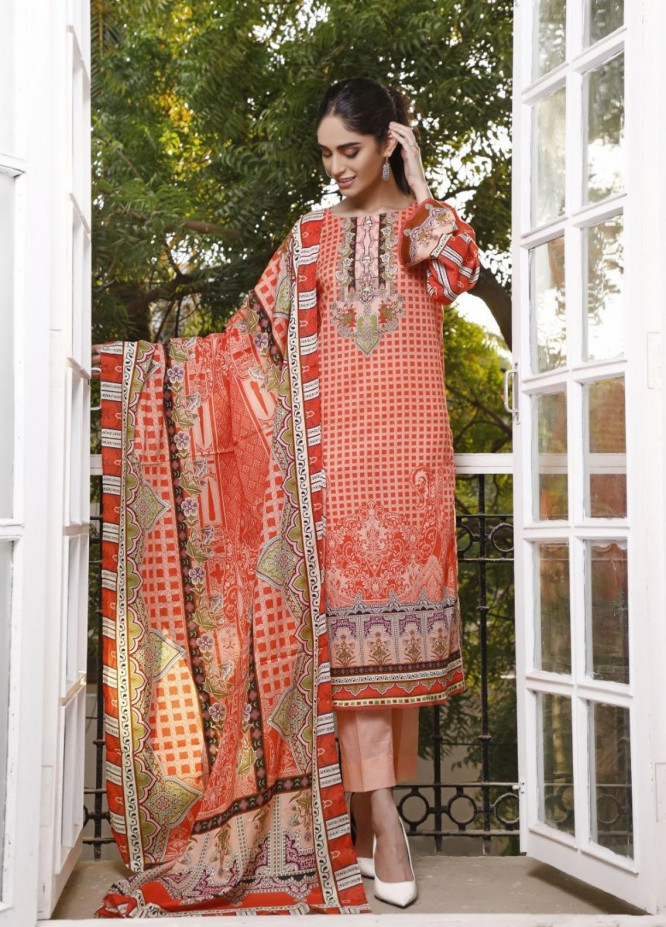 Ittehad Textiles Printed Lawn Suits Unstitched 3 Piece IT21CL LF-CL-21119A - Summer Collection