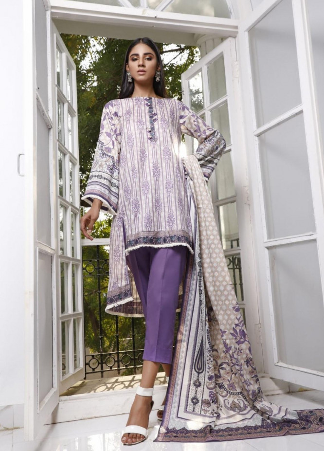 Ittehad Textiles Printed Lawn Suits Unstitched 3 Piece IT21CL LF-CL-21121A - Summer Collection