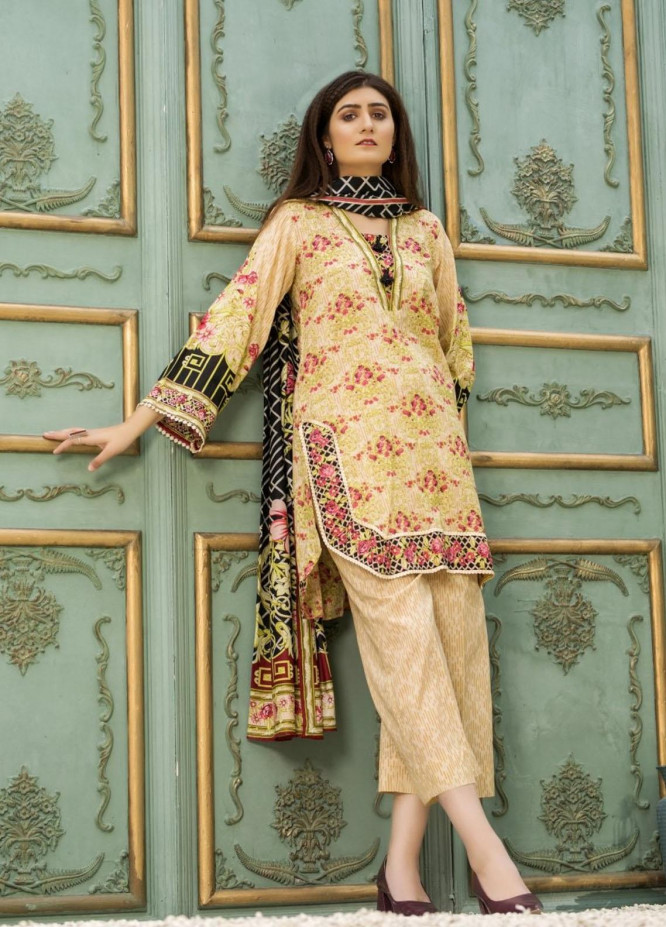 Ittehad Textiles Printed Lawn Suits Unstitched 3 Piece IT21CL LF-CL-21123A - Summer Collection