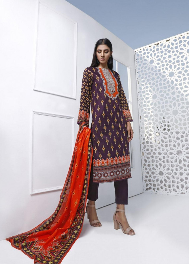 Ittehad Textiles Printed Lawn Suits Unstitched 3 Piece IT21CL LF-CL-21124A - Summer Collection