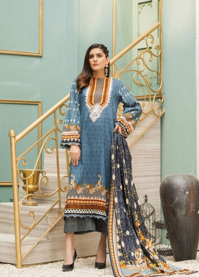 Ittehad Textiles Printed Lawn Suits Unstitched 3 Piece IT21CL LF-CL-21126B - Summer Collection