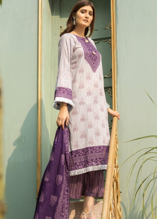 Ittehad Textiles Printed Lawn Suits Unstitched 3 Piece IT21CL LF-CL-21138A - Summer Collection