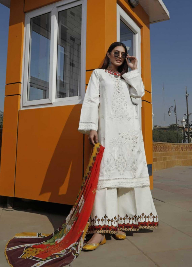 Ittehad Textiles Embroidered Lawn Suits Unstitched 3 Piece IT21EL ITE-ALMIJA - Summer Collection