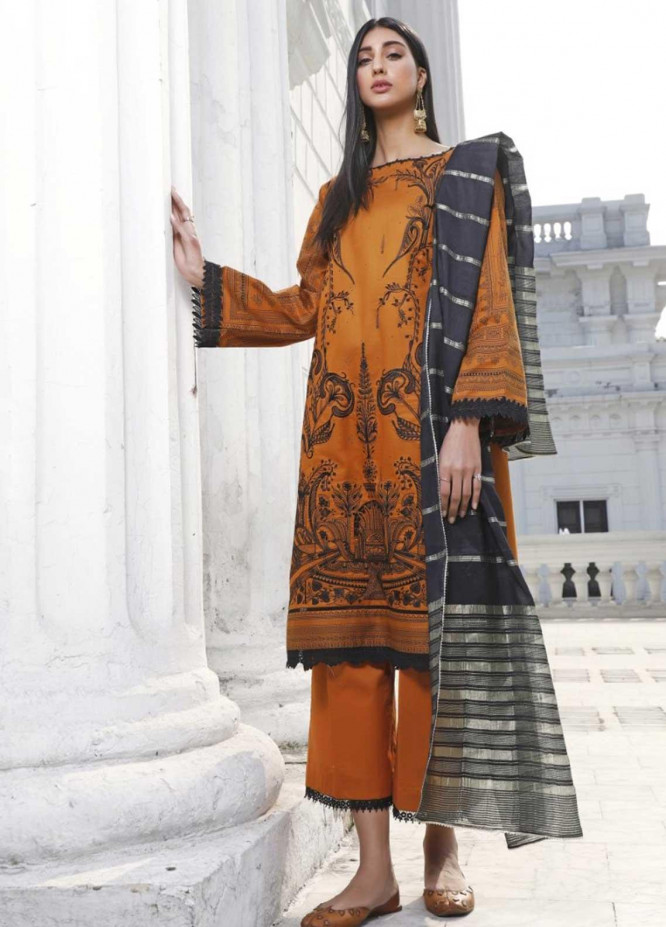 Ittehad Textiles Embroidered Lawn Suits Unstitched 3 Piece IT21EL ITE-ARCE - Summer Collection